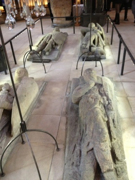 Tombs of Templar Knights in the floor of Temple Church
