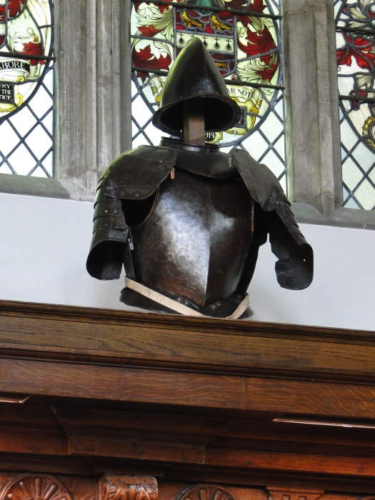 Common armor displayed at Middle Temple Hall