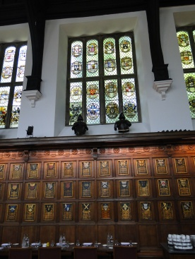 The wondow at Middle Temple Hall containing Richard Lane's updated arms