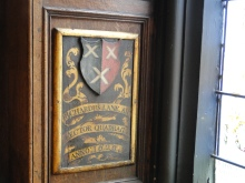 The armorial plaque of Richard Lane for being a Lenten Reader