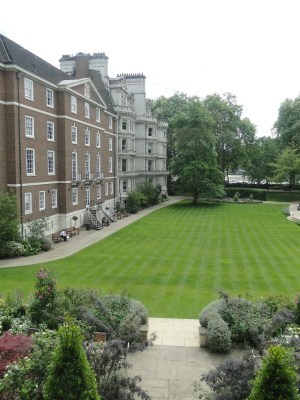The view from the rooms at Middle Temple looking south toward the Thames