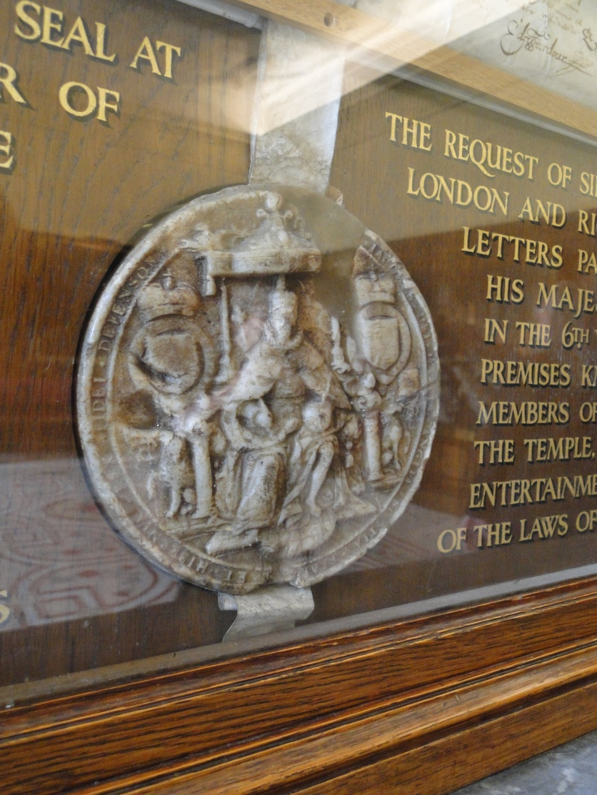 Seal of James I (The King while Richard Lane was a law student at Middle Temple)