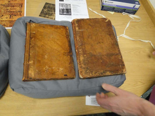 Note the one on the left is smaller. As part of its restoration, it was trimmed