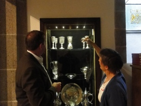 Silver collection on display at the town church