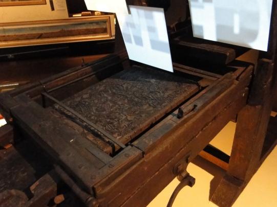 1600's printing press