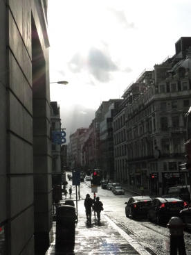 Fleet Street in the rain