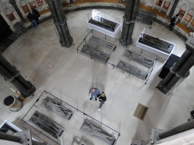 The view from a slit window into the rotunda