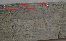 Center stone of Maximillin Norreys' memorial
