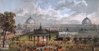 View of the 1862 Exhibition Building as seen from the top of the Gardens of the Royal Horticultural Society