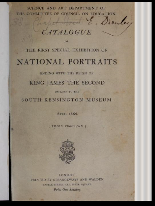 The First Special Exhibition of National Portraits of 1866 – Richard Lane's Last Public Appearance?