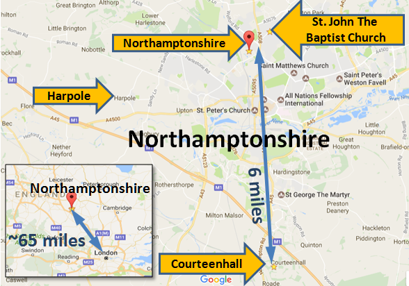 map_Northamptonshire