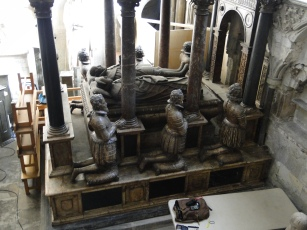 An elevated view of the huge Norris family monument in Westminster Abbey