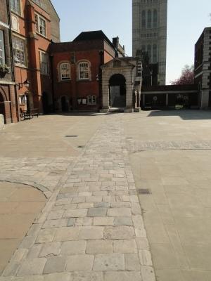 Inner courtyard at Westminster School