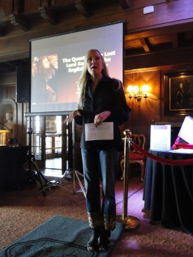 Jane, the event organizer, making the introduction