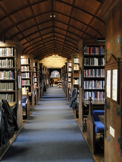 Library at Corpus Christi College Oxford, The books used to be chained to the shelves,