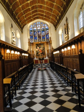 A chapel at Corpus Christi College Oxford