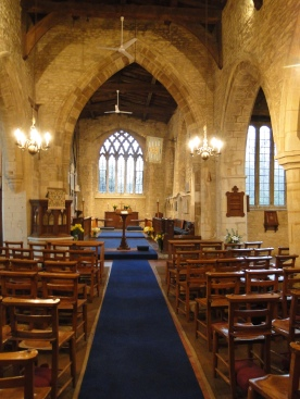 The interior of the church in Courteenhall