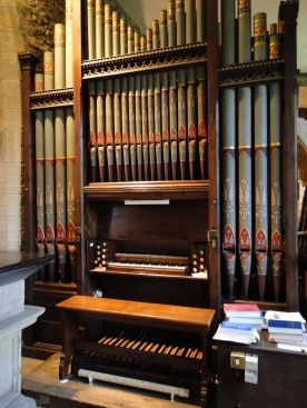 The fabulous organ in the church in Courteenhall