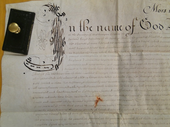A will at the Northampton Archives that was witnessed by Richard Laene