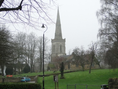 The church at Kingsthorpe sits atop a hill, and can only be approached on foot.
