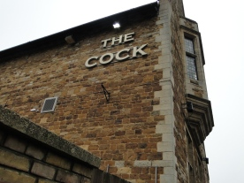 The Cock Inn in Kingsthorpe. The Lane mansion once stood behind this spot.