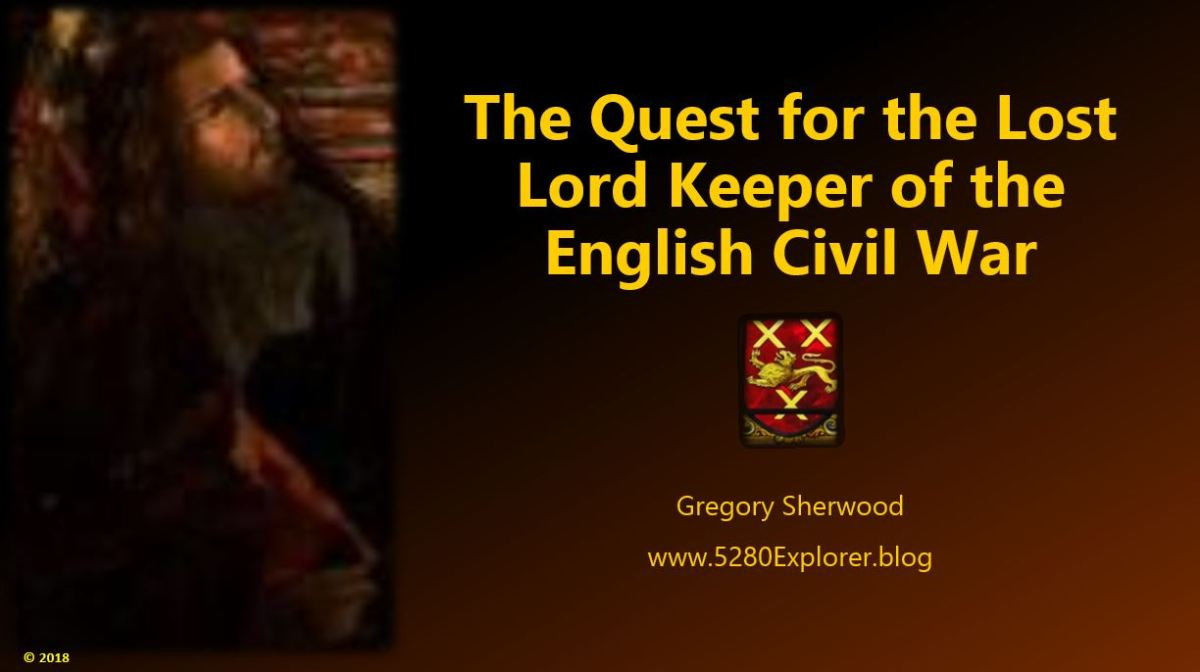 "Announcement! The Public Debut of ""The Quest for the Lost Lord Keeper"" !"