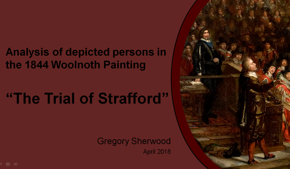 Westminster Palace:  Analysis of the 1844 Trial of Strafford Painting (Part1)