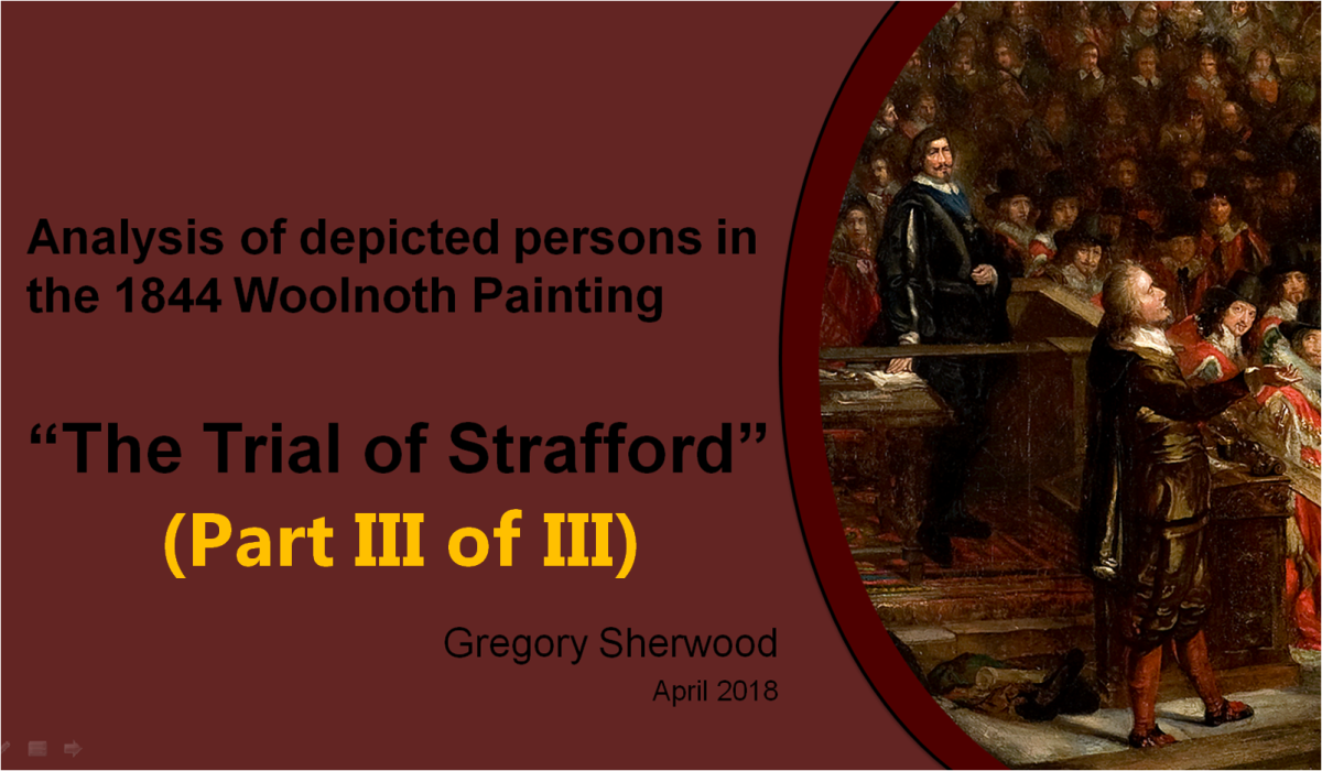 Westminster Palace:  Analysis of the 1844 Trial of Strafford Painting(Conclusion)